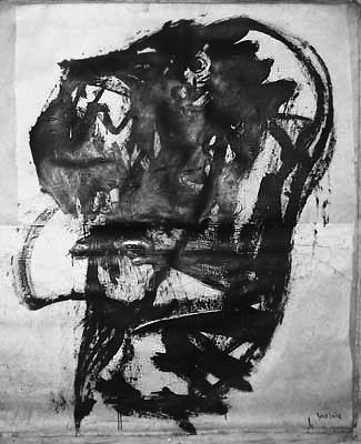 Black and White paintings: Head, 1959