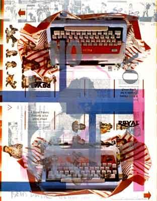 Boris Lurie: NO poster #5, 1963, print