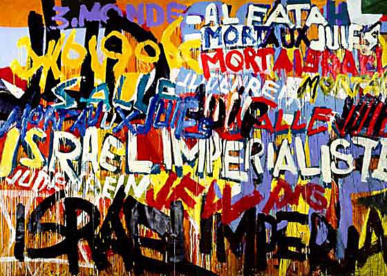 Boris Lurie: Mort aux Juifs, 1970 (Click to enlarge)